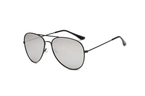 S1011 Slim Trendy Mirrored Flat Lens Aviator Sunglasses - Wholesale Sunglasses and glasses