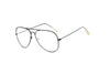 F1001 Trendy Aviator Clear Lens Glasses - Iris Fashion Inc. | Wholesale Sunglasses and Glasses