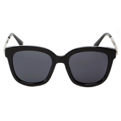 CD02 - Women's Oversize Mirrored Lens Horned Rim Sunglasses - Iris Fashion Inc. | Wholesale Sunglasses and Glasses