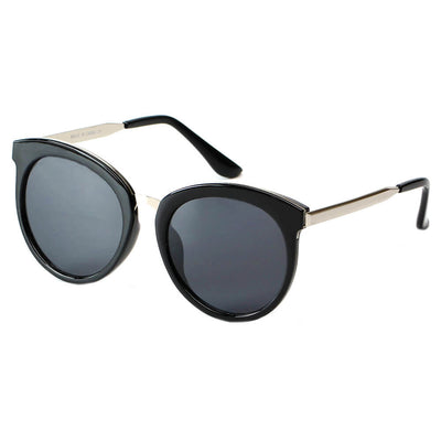 CD04 Vintage Oversize Round Mirrored Lens Horned Rim Sunglasses - Wholesale Sunglasses and glasses
