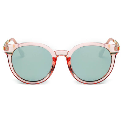 CD07 - Women's Retro Mirrored Lens Horned Rim Round Sunglasses - Iris Fashion Inc. | Wholesale Sunglasses and Glasses