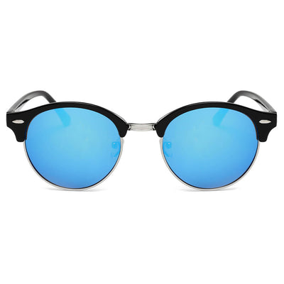 CD10 - Vintage Half Frame Round Horned Rim Sunglasses - Iris Fashion Inc. | Wholesale Sunglasses and Glasses