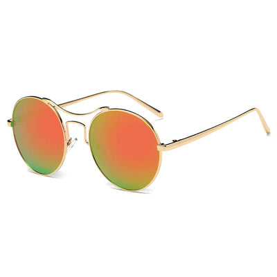 CD16 - Retro Round Circle Metal Mirrored Sunglasses - Iris Fashion Inc. | Wholesale Sunglasses and Glasses