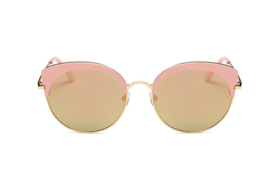 S2011 - Women's Bold Rimmed Mirrored Cat Eye Sunglasses - Iris Fashion Inc. | Wholesale Sunglasses and Glasses