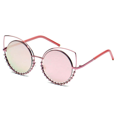 A21 Designer Pearl-Studded Cut-Out Cat Eye Sunglasses - Iris Fashion Inc. | Wholesale Sunglasses and Glasses