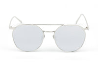 D63 Vintage Round Aviator Mirrored Flat Lens Sunglasses - Wholesale Sunglasses and glasses