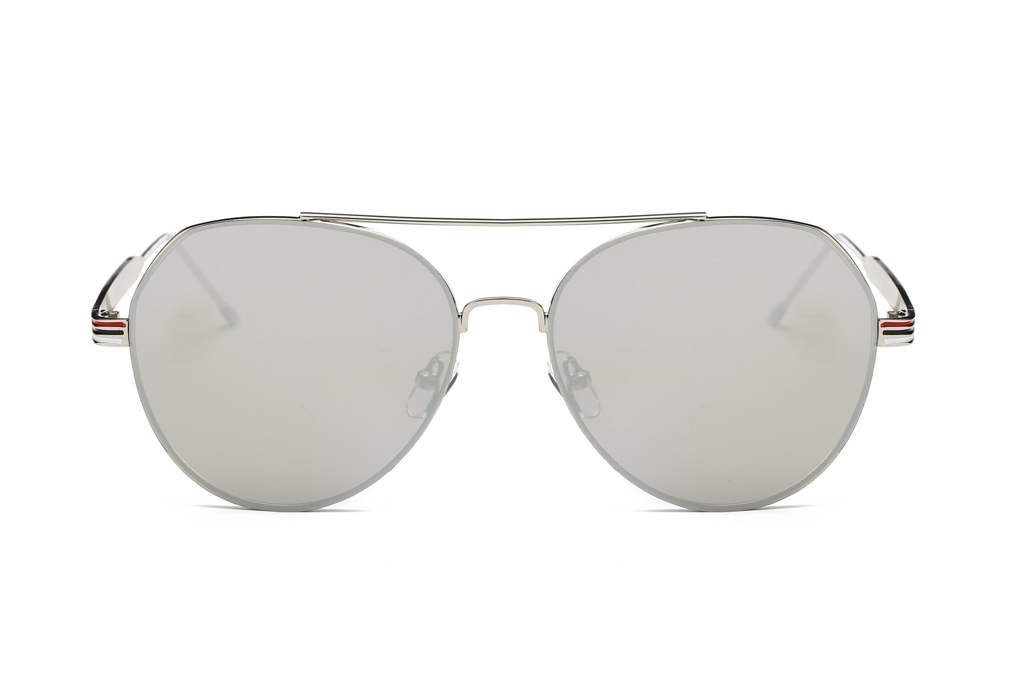S2006 - Modern Teardrop Aviator Flat Mirrored Lens Sunglasses - Wholesale Sunglasses and glasses