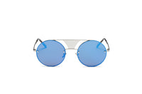 S2012 Modern Fashion Round Flat Divider Bridge Sunglasses - Wholesale Sunglasses and glasses