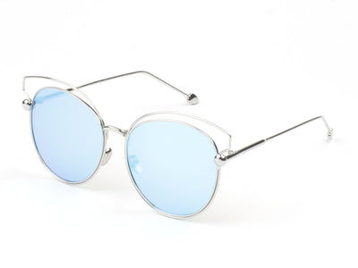 D64 - Modern Cut-Out Arrow Tipped Round Sunglasses - Iris Fashion Inc. | Wholesale Sunglasses and Glasses