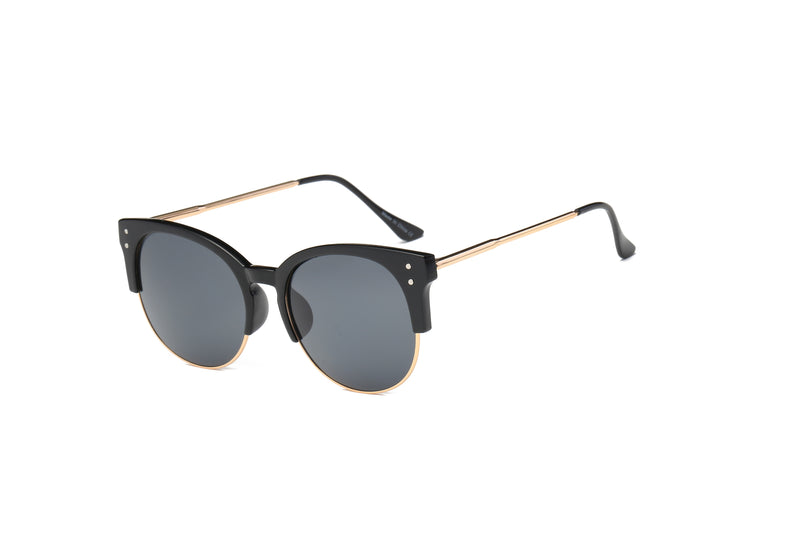 d4c7894eca D68 Round Mirrored Flat Lens Half Frame Sunglasses - Wholesale Sunglasses  and glasses here we show