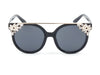 D40 Designer Brow Bar Horned Floral Rim Sunglasses - Wholesale Sunglasses and glasses here we show