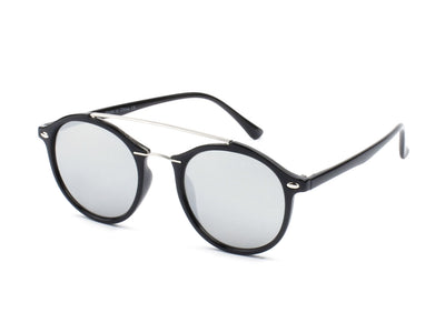 E17 - Modern Metal Browbar Round P3 Sunglasses - Wholesale Sunglasses and glasses