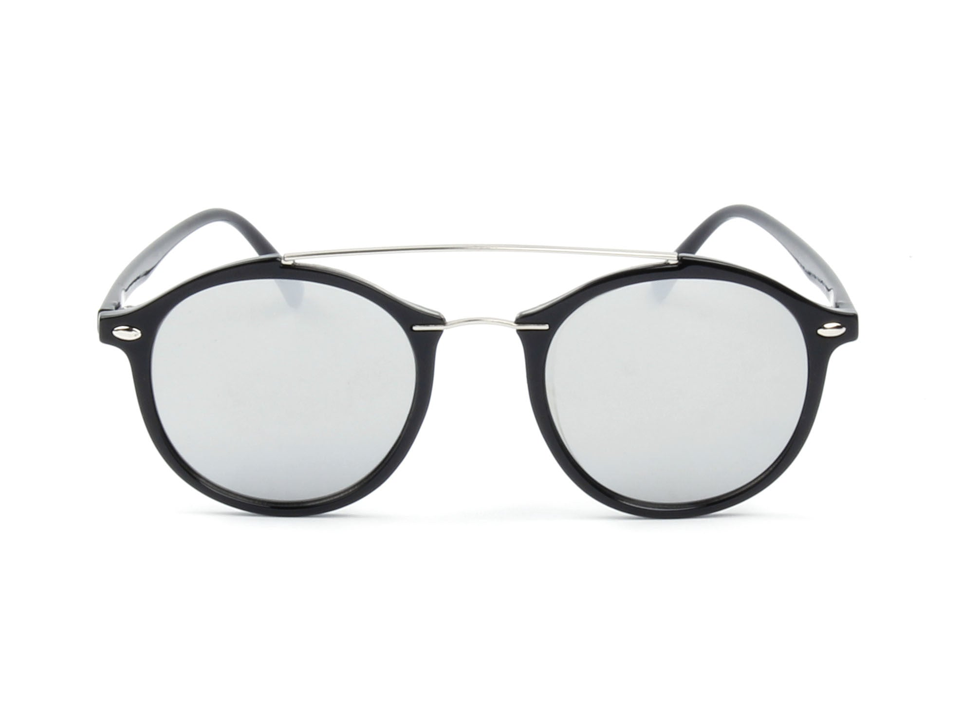 E17 - Modern Metal Browbar Round P3 Sunglasses - Iris Fashion Inc. | Wholesale Sunglasses and Glasses