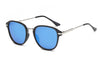 E19 - Round Horn Rimmed Mirrored Sunglasses - Iris Fashion Inc. | Wholesale Sunglasses and Glasses
