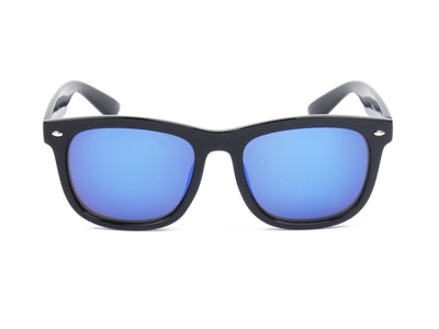 E06 - Classic Horned Rim Mirrored Lens Sunglasses - Iris Fashion Inc. | Wholesale Sunglasses and Glasses