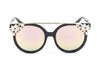 D40 Designer Brow Bar Horned Floral Rim Sunglasses - Iris Fashion Inc. | Wholesale Sunglasses and Glasses