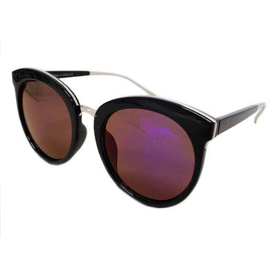 CD06 Women's Oversize Mirrored Lens Horned Rim Sunglasses - Iris Fashion Inc. | Wholesale Sunglasses and Glasses