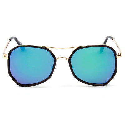 CD13 - Modern Hexagonal Metal Frame Sunglasses - Iris Fashion Inc. | Wholesale Sunglasses and Glasses