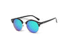E22 - Round Circle Half Frame Mirrored Lens Sunglasses - Iris Fashion Inc. | Wholesale Sunglasses and Glasses