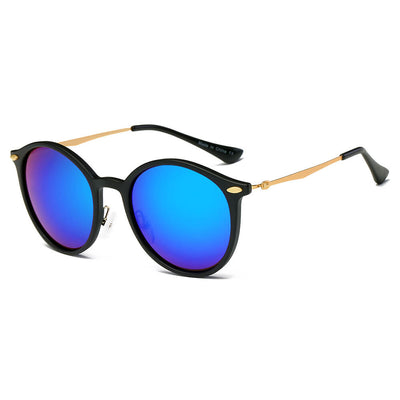 D32 - Retro Horn Rimmed Keyhole Bridge Round Fashion Sunglasses - Iris Fashion Inc. | Wholesale Sunglasses and Glasses