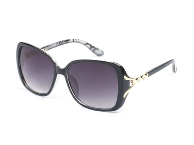 D49 - Square Golden Hinged Butterfly Sunglasses - Iris Fashion Inc. | Wholesale Sunglasses and Glasses
