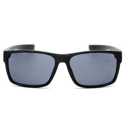 D18 - Rectangular Wood Print Rectangle Sunglasses - Iris Fashion Inc. | Wholesale Sunglasses and Glasses