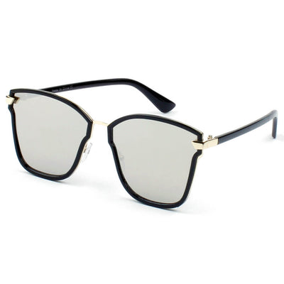 D38 - Classic Square Oversize Mirrored Fashion Sunglasses - Iris Fashion Inc. | Wholesale Sunglasses and Glasses
