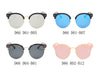 D66 Retro Fashion Round Clubmaster Flat Lens Sunglasses - Wholesale Sunglasses and glasses