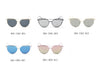 D69 Modern Flat Lens Cat Eye Sunglasses w/ Crossbar - Wholesale Sunglasses and glasses