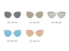 D70 Modern Cat Eye Mirrored Flat Lens Sunglasses - Wholesale Sunglasses and glasses