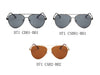 D71 Flat Mirrored Lens Teardrop Aviator Sunglasses - Wholesale Sunglasses and glasses
