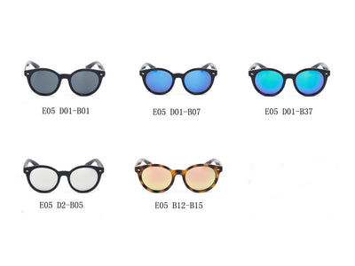 E05 Vintage Thick Frame Round P3 Sunglasses - Iris Fashion Inc. | Wholesale Sunglasses and Glasses