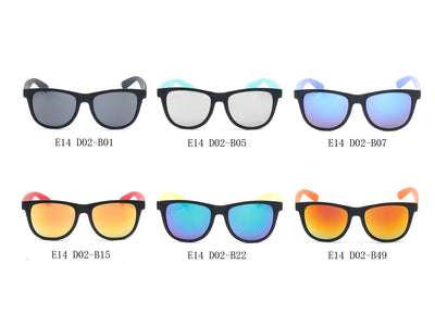 E14 - Jaunty Pillow Frame Horn Rimmed Sunglasses - Wholesale Sunglasses and glasses