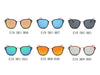 E19 Square P3 Horn Rimmed Mirrored Sunglasses - Wholesale Sunglasses and glasses