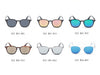 E23 Modern Horned Rim Keyhole Bridge Sunglasses - Iris Fashion Inc.
