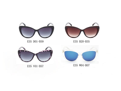E35 - Deluxe Oversize Cat Eye Sunglasses w/ Textured Arms - Iris Fashion Inc. | Wholesale Sunglasses and Glasses