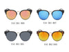 E44 Round Half Frame Keyhole Bridge Mirrored Sunglasses - Wholesale Sunglasses and glasses