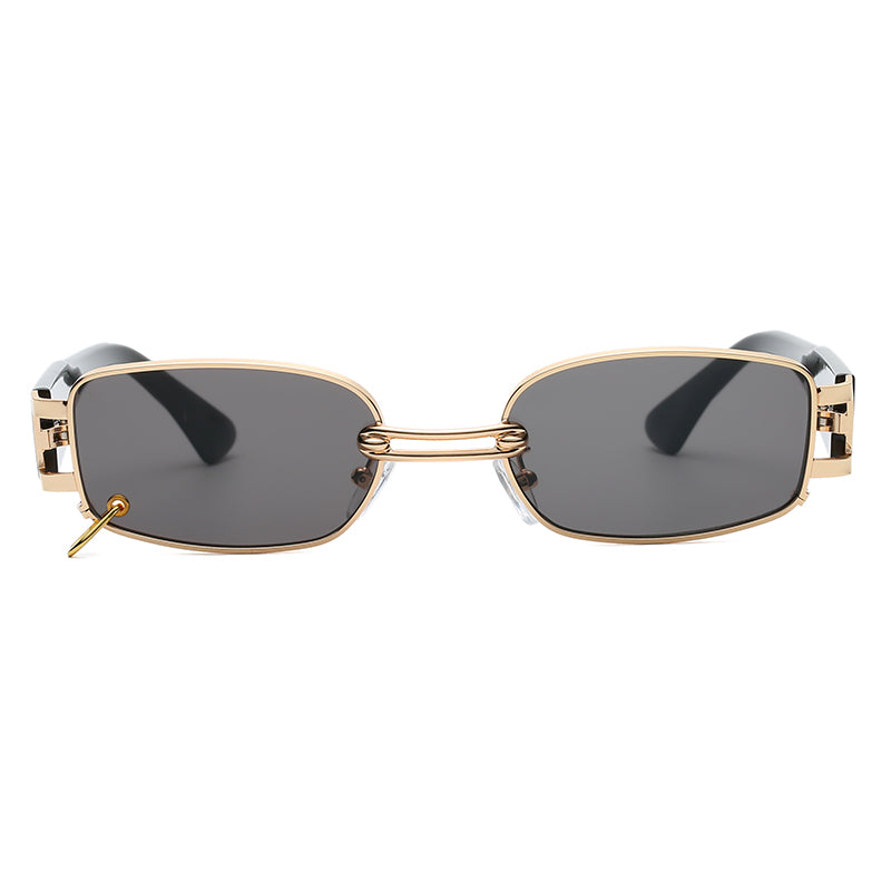 H1020 - Retro Metal Vintage Rectangle Fashion Sunglasses