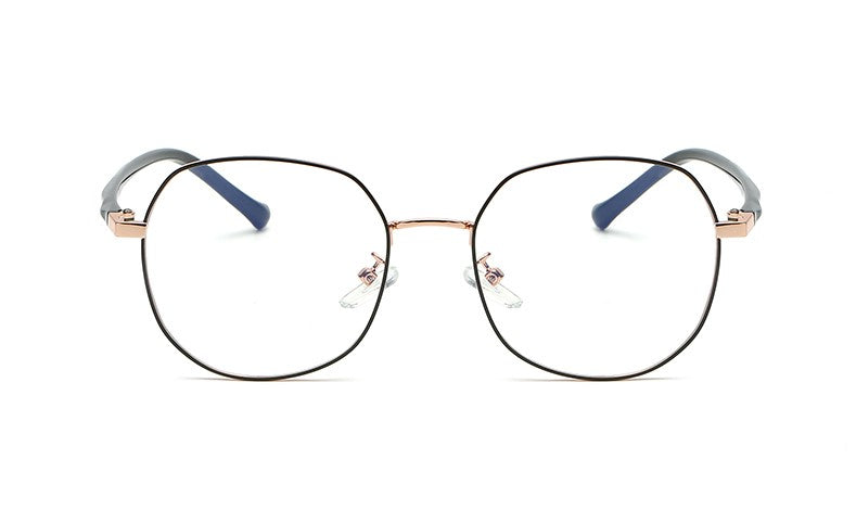 HBJ2007 - Round Geometric Blue Light Blocker Fashion Glasses