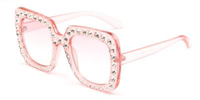 S5001 - Women Rhinestone Square Oversize Sunglasses - Wholesale Sunglasses and glasses