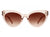 HS1024 - Women Retro Round Cat Eye Fashion Sunglasses