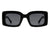 HS1021 - Retro Square Vintage Bold Fashion Sunglasses