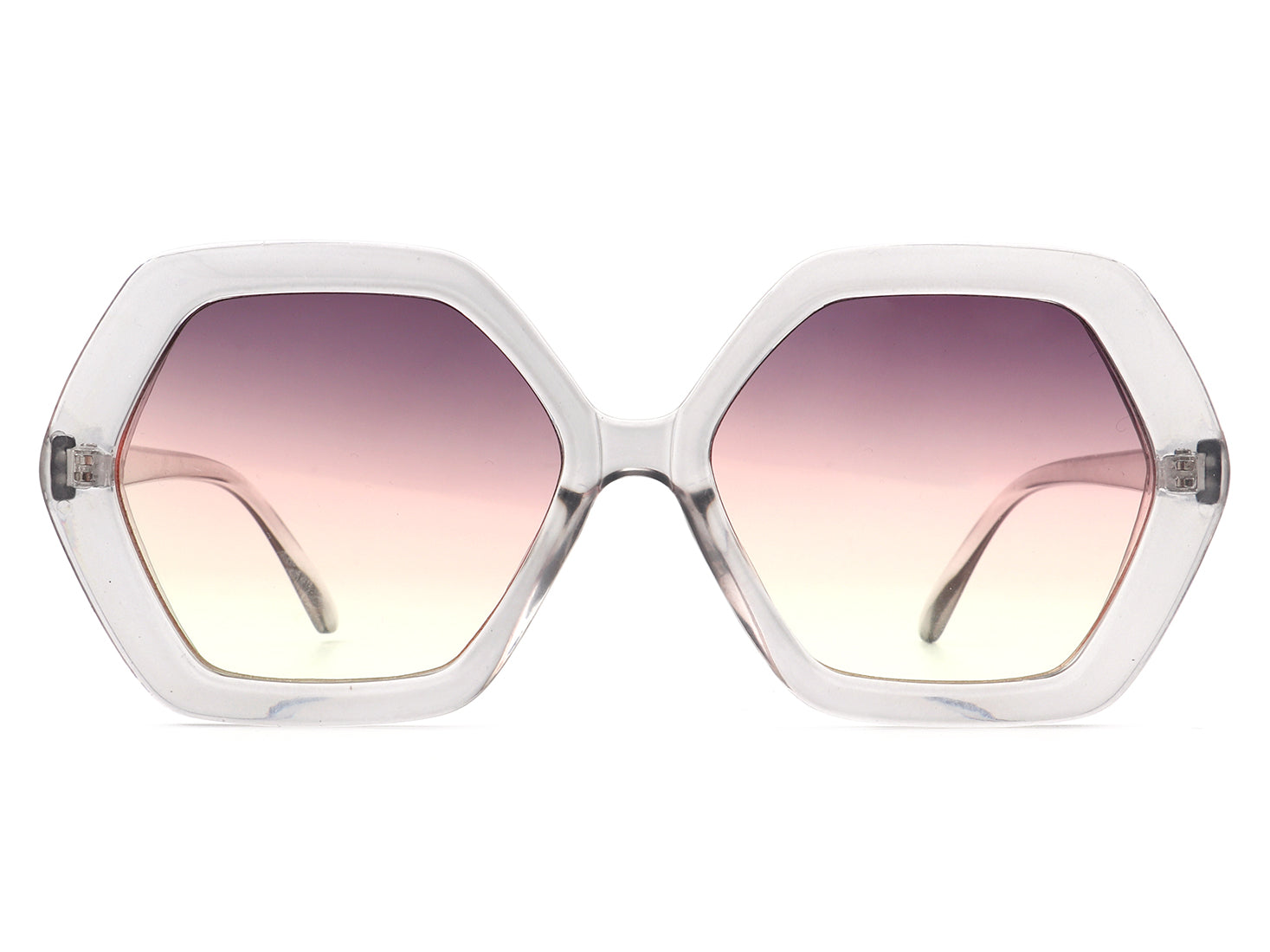 HS1019 - Square Geometric Oversize Polygon Designer Fashion Sunglasses