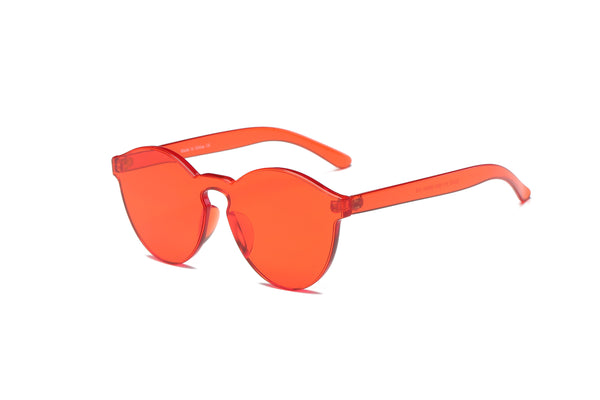 S2005 Hipster Translucent Monochromatic Sunglasses - Wholesale Sunglasses and glasses