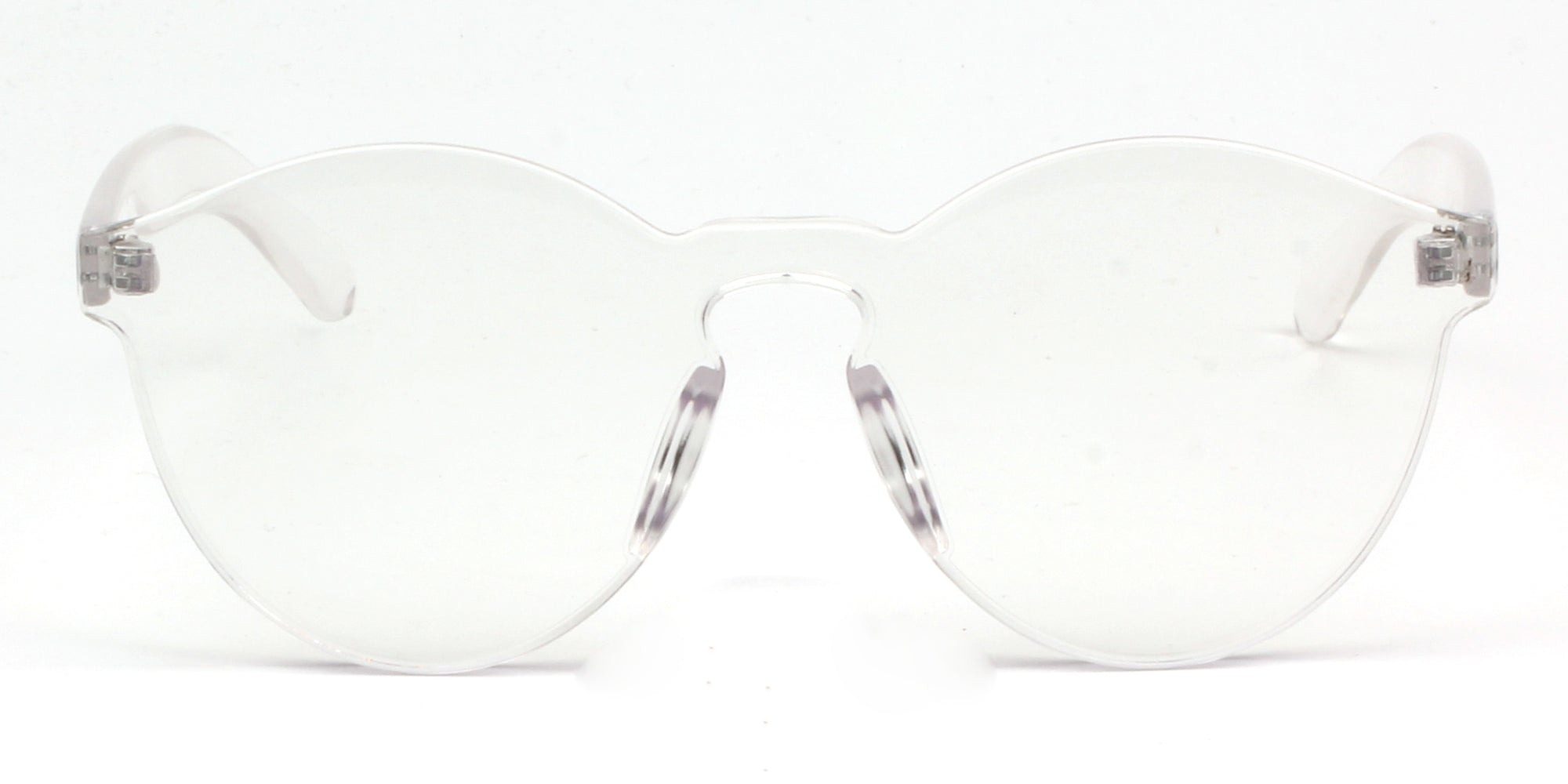 S2005 - Hipster Translucent Monochromatic Sunglasses - Iris Fashion Inc.