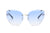 S2041 - Women Rimless Round Cat Eye Sunglasses - Iris Fashion Inc. | Wholesale Sunglasses and Glasses