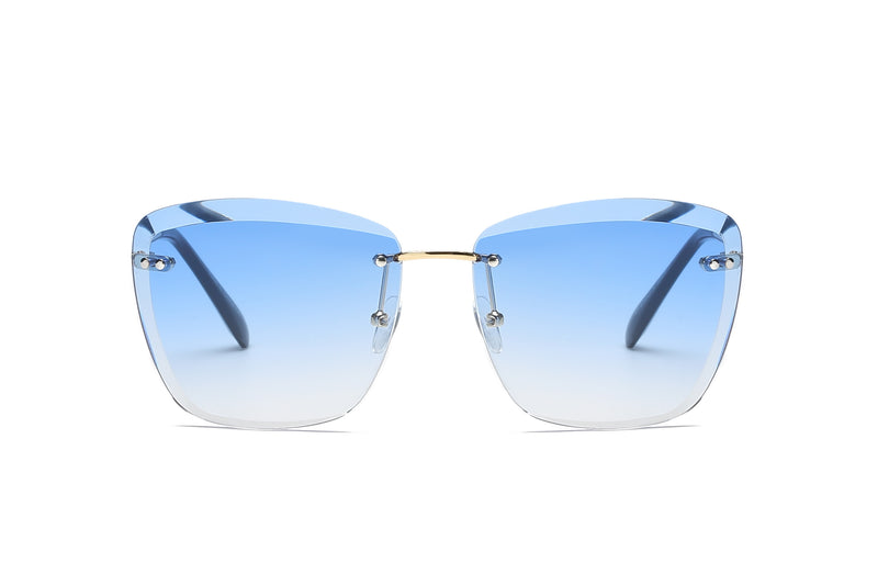e61a94f5d6a S2040 Women Rimless Tinted Lens Square Sunglasses - Wholesale Sunglasses  and glasses here we show