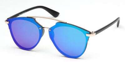 S1010 - Unisex Mirrored Round Sunglasses - Wholesale Sunglasses and glasses