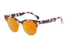 E40 - Classic Clubmaster Mirrored Sunglasses - Iris Fashion Inc. | Wholesale Sunglasses and Glasses