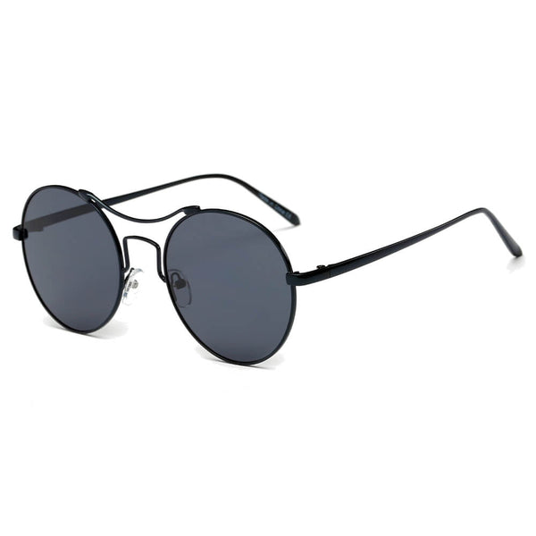 CD16 Modern Round Mirrored Lens Keyhole Bridge Sunglasses - Wholesale Sunglasses and glasses